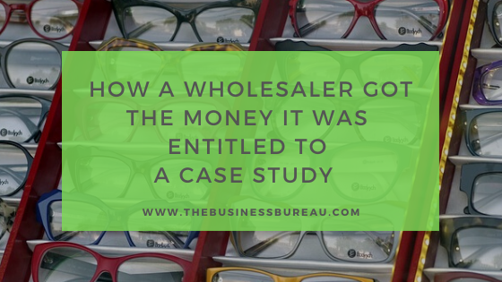 Spectacles: Case study: How a spectacles wholesaler got the money from its invoice financier that it was entitled to
